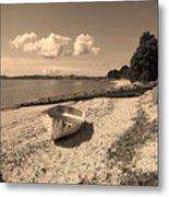 Nostalgia Boat On Beach Metal Print