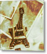 Nostalgic Mementos Of A Paris Trip Metal Print