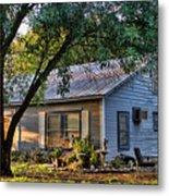 Nostalgic Old Cottage In Evening Light Metal Print