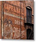 Nostalgic Painted Advertising Metal Print