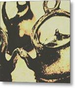 Nostalgic Tea Break Metal Print