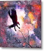Not A Minute Stopped Or Stayed He Metal Print