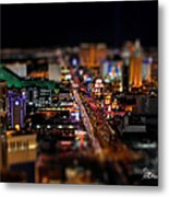 Not Everything Stays In Vegas - Tiltshift Metal Print