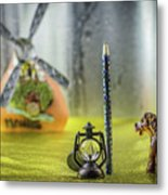Not For Your Quirks Friend Stands Nearby Metal Print