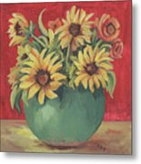 Not Just Sunflowers Metal Print