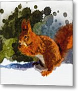 Not Much Goes On In The Mind Of A Squirrel Metal Print