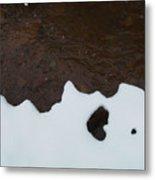 Notan On Creek Metal Print
