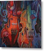 Noteworthy - A Viola Duo Metal Print