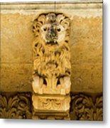 Noto, Italy - Detail Of Baroque Balcony, 1750 Metal Print