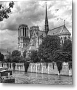 Notre Dame And Seine Metal Print