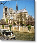 Notre Dame And The Seine Metal Print