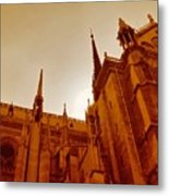 Notre Dame At Sunset Metal Print
