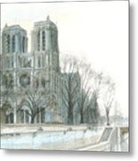 Notre Dame Cathedral In March Metal Print