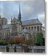 Notre Dame Cathedral In Paris, France Metal Print