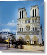 Notre Dame Cathedral Paris 3 Metal Print