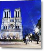 Notre Dame Cathedral Paris 4 Metal Print