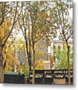 Notre Dame From The Window Metal Print
