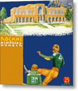 Notre Dame Versus Minnesota 1938 Program Metal Print