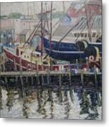Nova Scotia Boats At Rest Metal Print