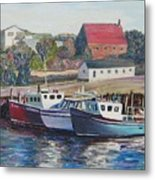 Nova Scotia Boats Metal Print