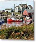 Nova Scotia Fishing Community Metal Print