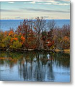 November Reflections Metal Print