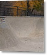 November Skatescape #4 Metal Print