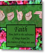 Now Faith Metal Print