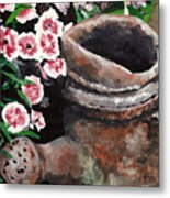 Now Its Yard Art Metal Print