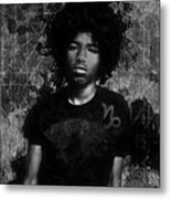 Ntr Rockstar Black And White Metal Print