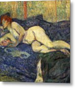 Nu Couche Naked Lying  Metal Print