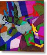 Nu Wall Graffiti Horns In The Landscape Of Sound/tony Adamo Metal Print