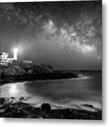 Nubble At Night Metal Print