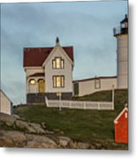 Nubble At Sunset Metal Print