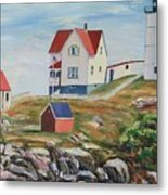 Nubble Light House Maine Metal Print