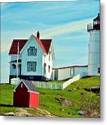 Nubble Lighthouse II Metal Print