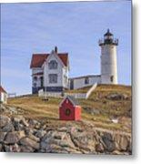 Nubble Lighthouse York Maine Metal Print