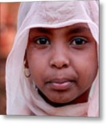 Nubian Girl In Color Metal Print