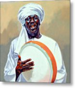 Nubian Musician Player Playing Duff Metal Print