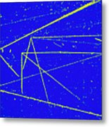 Nuclear Particle Tracks Metal Print