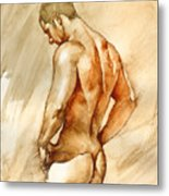 Nude 41 Metal Print by Chris Lopez