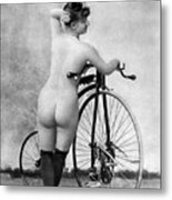 Nude And Bicycle, C1885 Metal Print