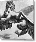 Nude And Griffin, 1890s Metal Print