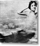 Nude As Mermaid, 1890s Metal Print