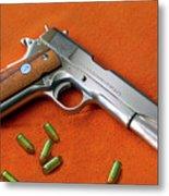 Nude Colt 45 Metal Print
