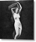 Nude Floating, 1890s Metal Print