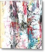 Nude In Abstract Metal Print