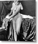Nude In Bonnet, C1885 Metal Print