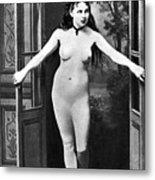 Nude In Doorway, C1865 Metal Print