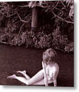 Nude In Jack Creek Metal Print
